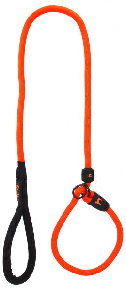 Voditko DF s obojkem L oranzove 1,3x120cm