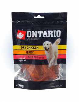 ONTARIO Natural Meat Dog Snack Dry Chicken Jerky 70g