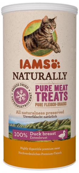 IAMS Naturally cat pochúťka 25 g mrazom sušené kačacie kocky