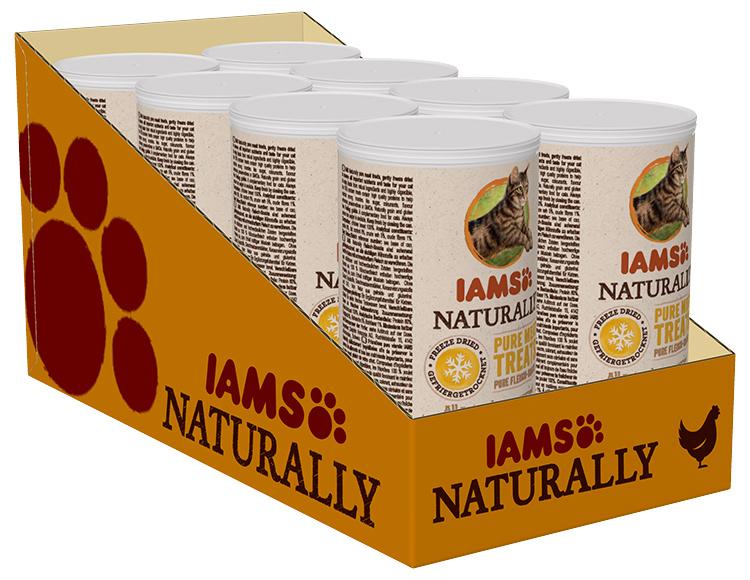 IAMS Naturally cat pochúťka mrazom sušené kuracie kocky 25 g