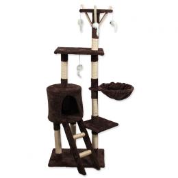 Škrabadlo Magic cat Mia 35x50x140 cm s hračkami hnedé