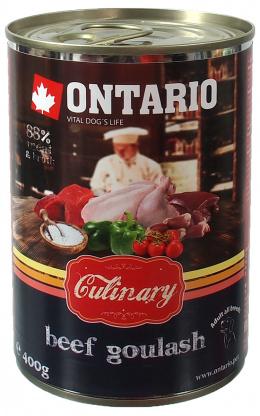 Ontario Dog konzerva Culinary 400 g hovädzí guláš