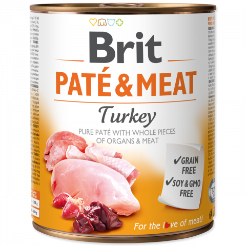 Brit Pate & Meat Turkey 800g
