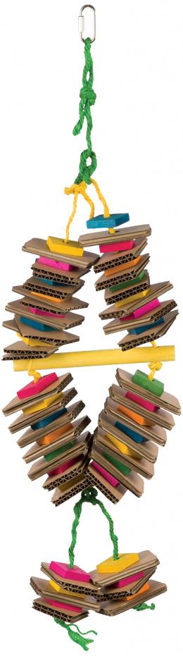 Trixie hračka závesná pre vtáky drevo-kartón 18x35 cm