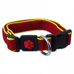 Active dog mellow obojok S 2,5x28-40 cm červený