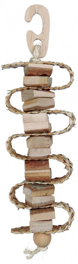 Trixie Hračka Natural Living závesná so stuhou a zvončekom 21 cm