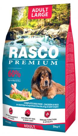 RASCO dog granuly pre psy adult large 3 kg + Magazín 3/4