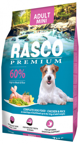RASCO dog adult granuly pre psy small 7 kg kura + Magazín 3/4 large