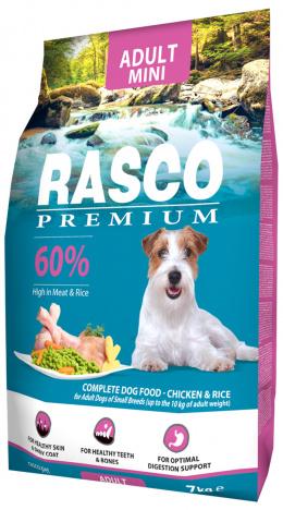 RASCO dog adult granuly pre psy small 7 kg kura + RASCO dog adult small 1kg kura