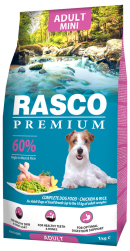RASCO dog adult small 1kg kura