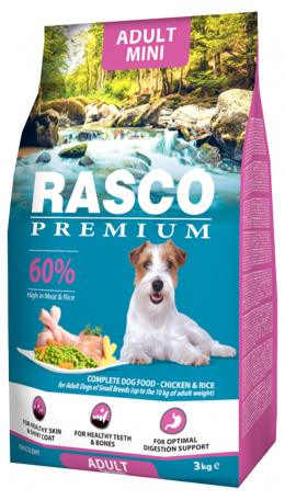 RASCO dog granuly pre psy adult small 3 kg kura + Magazín 3/4