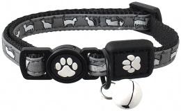 Obojok Active Cat Reflective XS čierny 1x19-31 cm