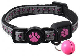 Obojok Active Cat Reflective XS ružový 1x19-31 cm
