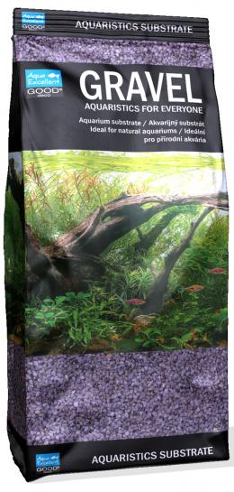 Aqua Excellent piesok žiarivo fialový 1,6-2,2 mm 1 kg