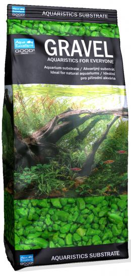 AEX Piesok ziarivo zeleny 3-6mm 1kg