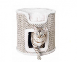 Ria Cat Tower, light grey, 37cm