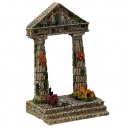 AEX Dekorácia akváriová Zrúcanina chrámu 9,5x7x15cm