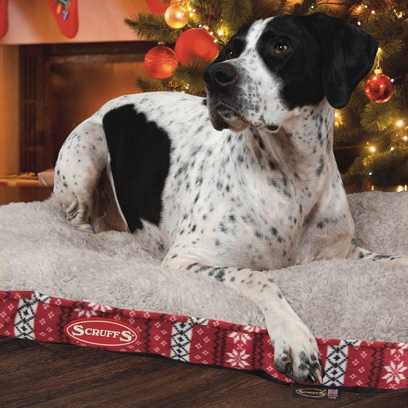 Matrac Scruffs Santa Paws Mattress M 82x58 cm