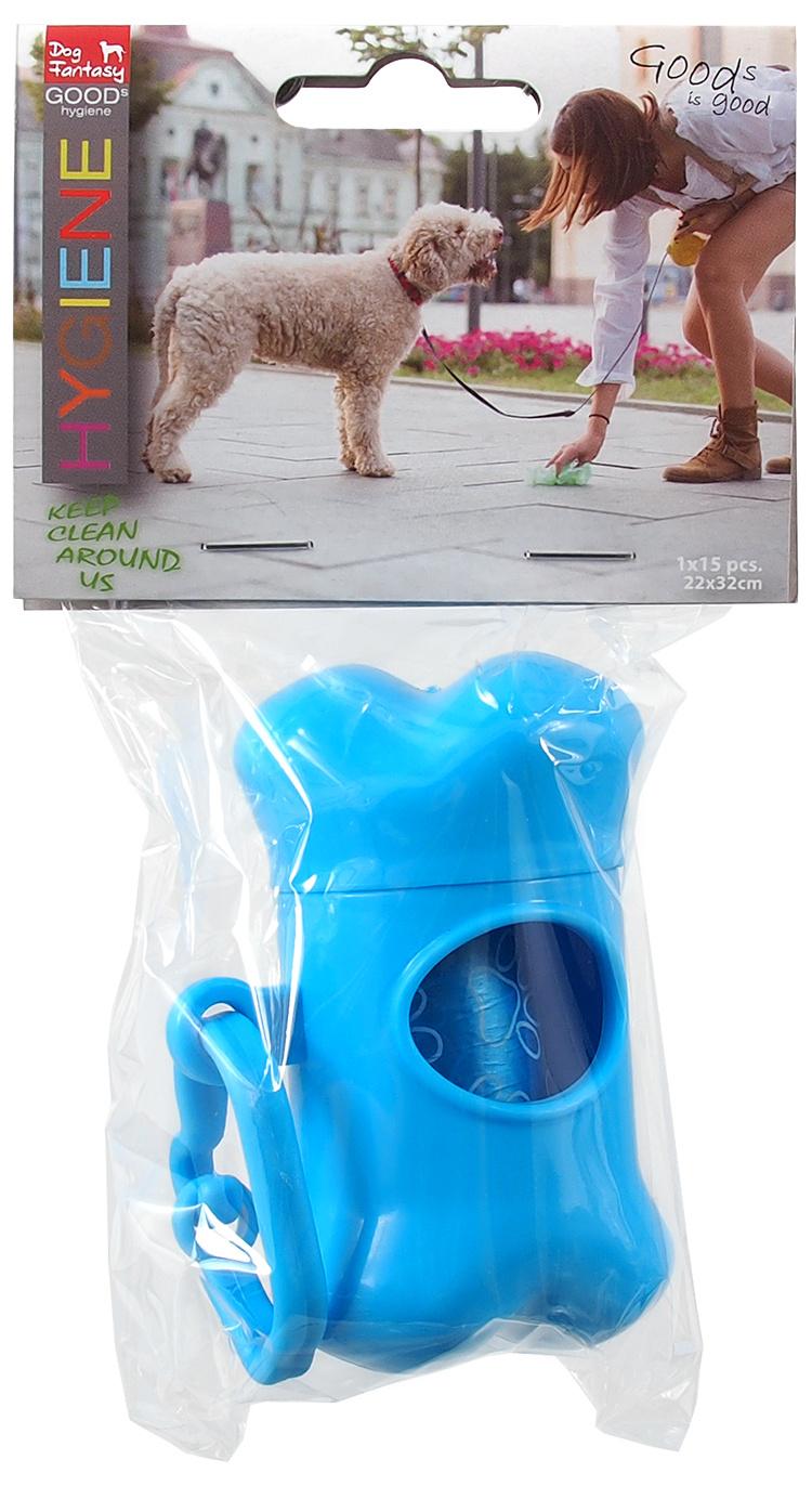 Dog Fantasy zásobník na 1 rolku po 15 kusov modrý