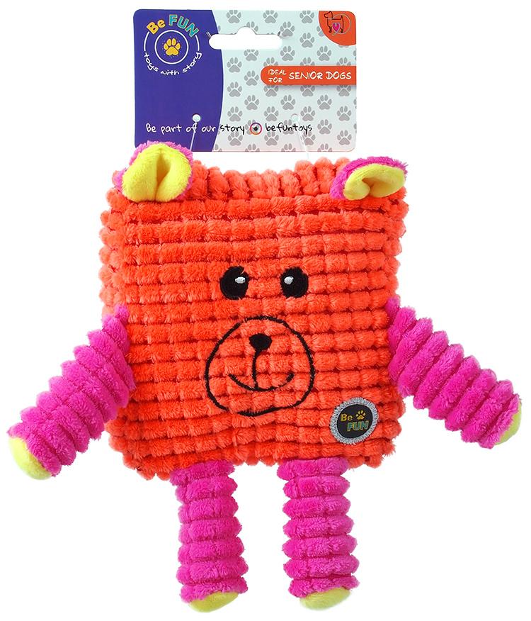 BeFun hračka CALYPSO senior štvorec oranžový 12,5 cm