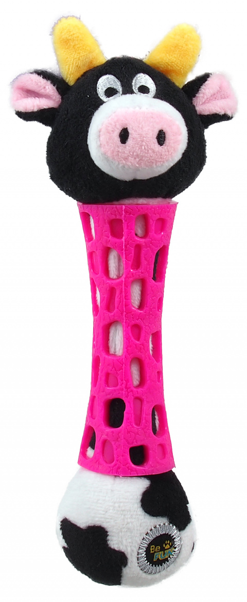 BeFun hračka TPR plyšová kravička 17 cm