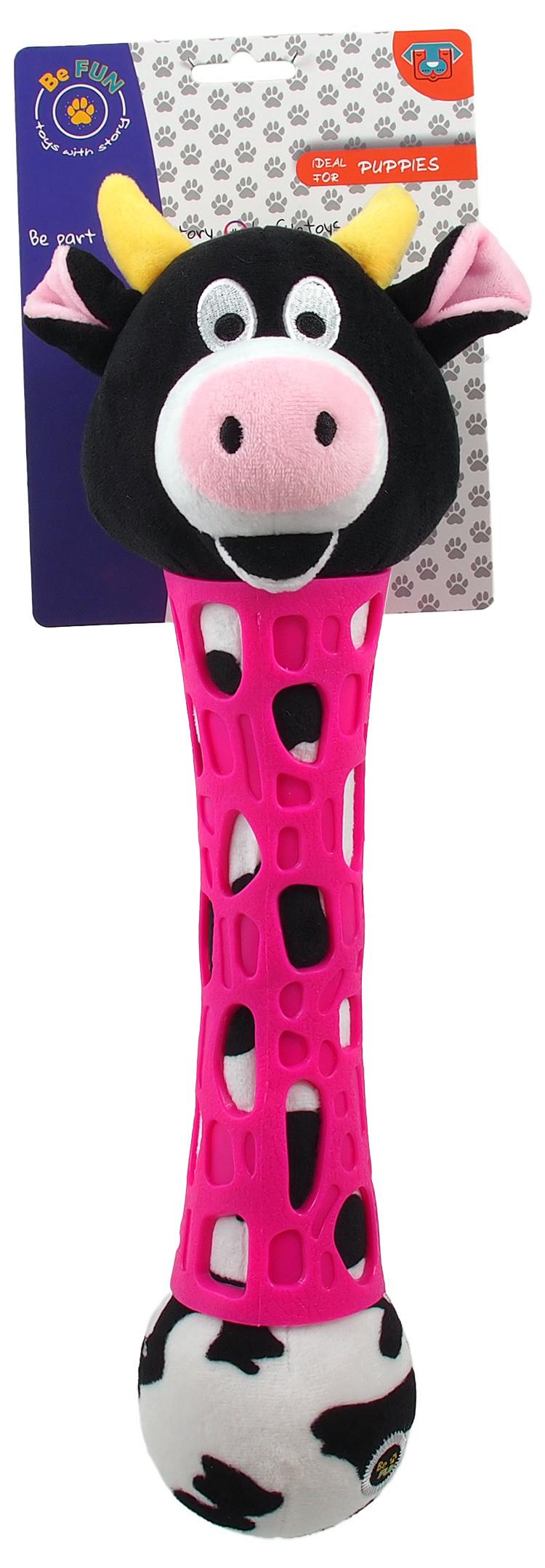 BeFun hračka TPR plyšová kravička 39 cm