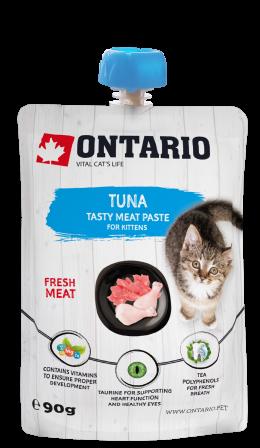 Ontario mäsová pasta pre mačiatka tuniak 90 g