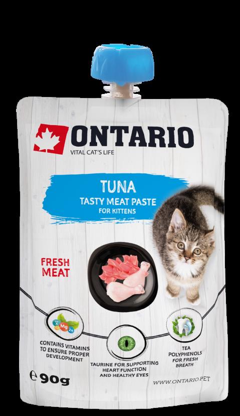 Ontario pochúťka pre mačiatka tuna fresh meat paste 90 g