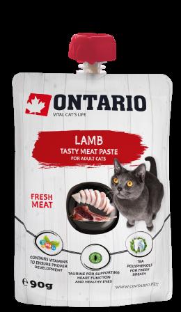 Ontario mäsová pochúťka pra mačky lamb fresh meat paste 90 g