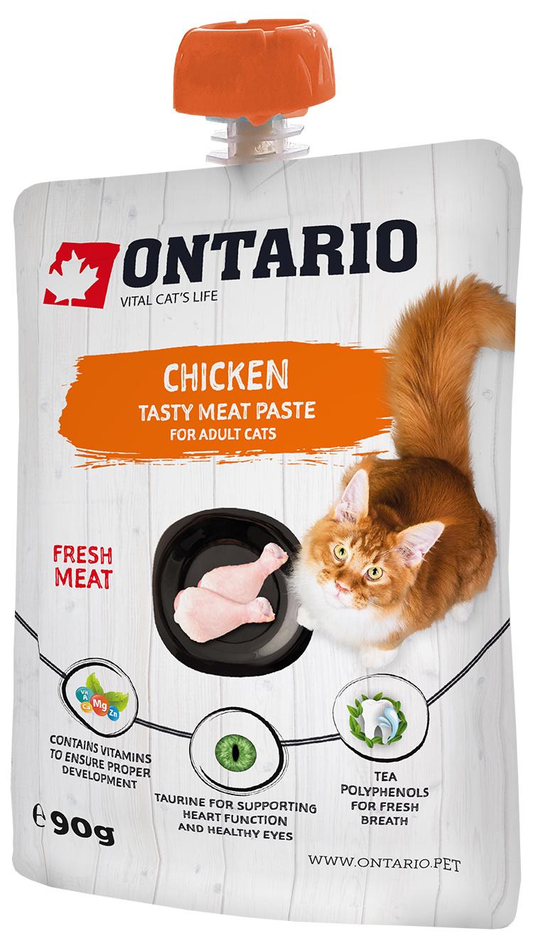 Ontario mäsová pasta pre mačky chicken fresh meat paste 90 g