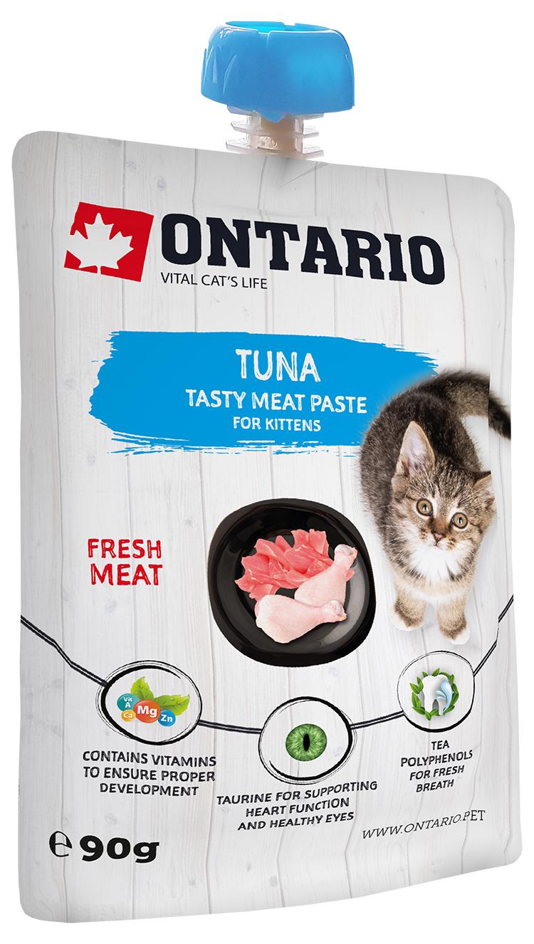 Ontario mäsová pasta pre mačiatka tuna fresh meat paste 90 g