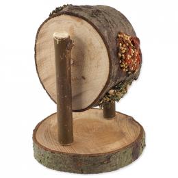 Pochúťka Nature Land Nibble kolo drevené plnené mrkvou, petržlenom a prosom 200 g