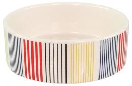 DF miska keramická farebné pruhy 12,5x4,5 cm 0,28 l