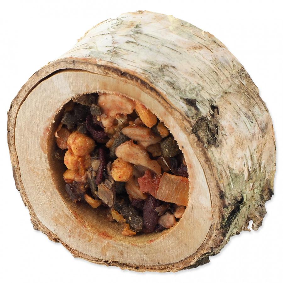 Miska Nature Land Nibble plnená ovocím drevená 120 g