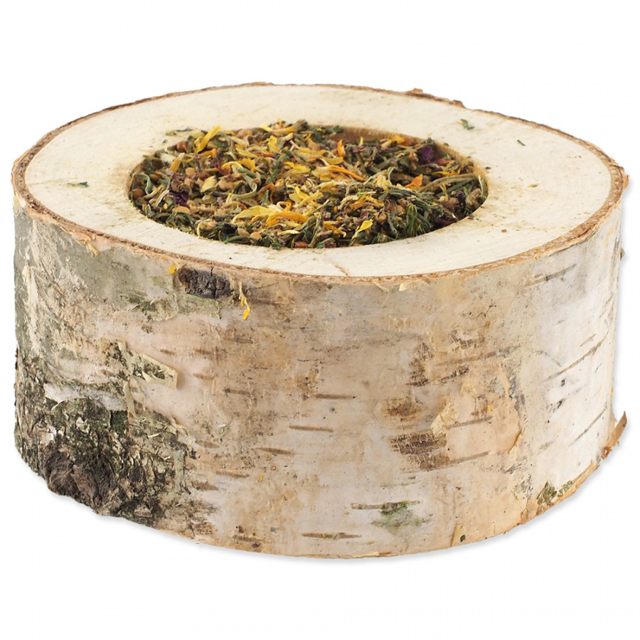 Miska Nature Land Nibble plnená bylinkami drevená 120 g