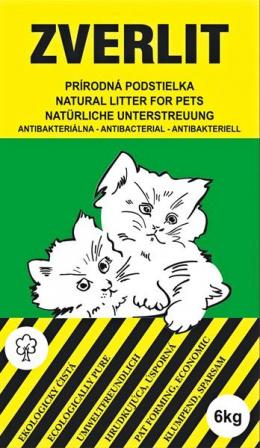 Zverlit podstielka pre mačky hrubá bez vône 6 kg