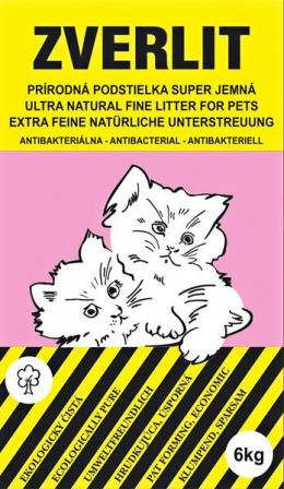 Zverlit podstielka pre mačky super jemná bez vône 6 kg