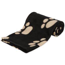 Trixie deka Barnex čierna s béžovými packami 150*100 cm