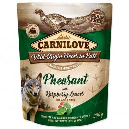 Carnilove Dog Pouch Paté bažant s malinovým listím 300 g