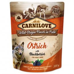 Carnilove Dog Pouch Paté pštros a ostružiny 300 g