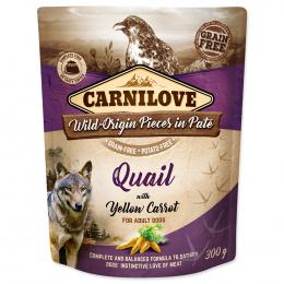 Carnilove Dog Pouch Paté prepelica so žltou mrkvou 300 g