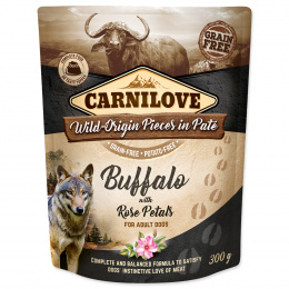 Carnilove Dog Pouch Paté bizón s plátkami ruží 300 g