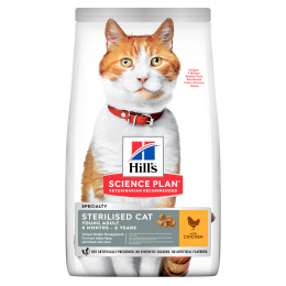 Hill´s Science Plan Feline Young Adult Sterilised Cat Chicken 10kg