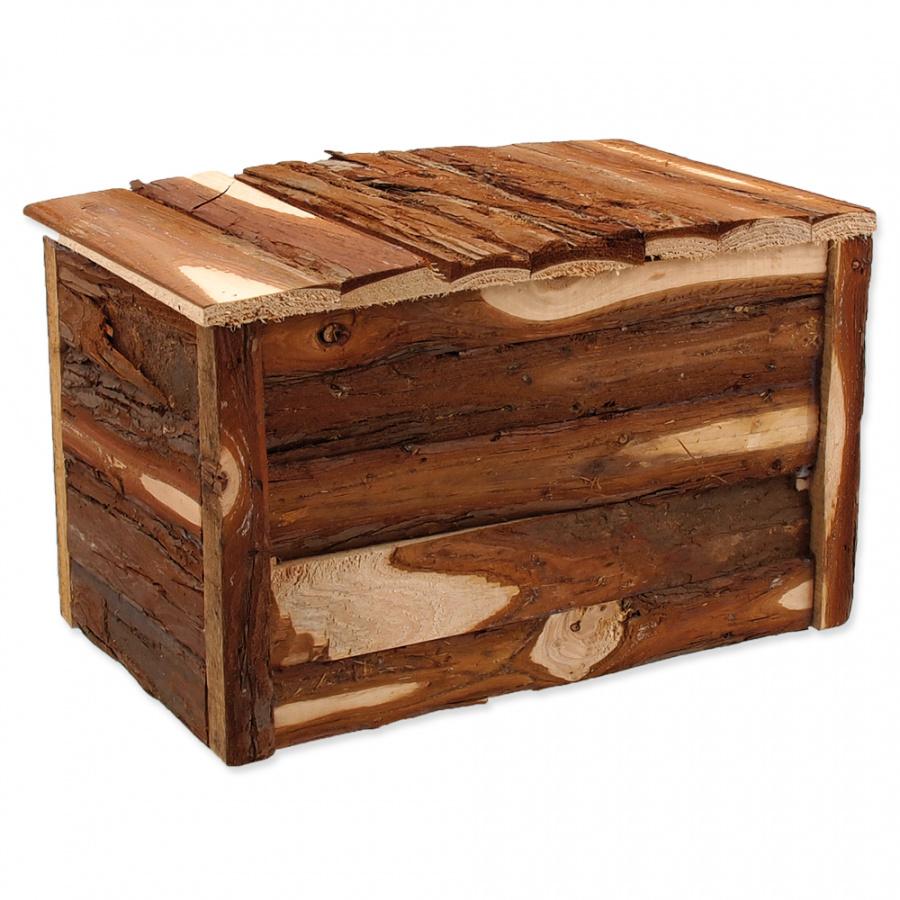 Domček SMALL ANIMAL drevený s kôrou 28 x 18 x 16 cm