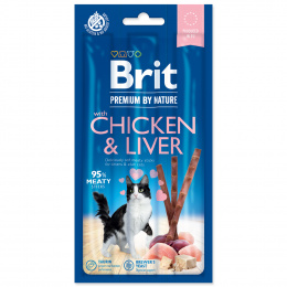 Brit Premium by Nature Cat Tyčinky Sticks with Chicken & Liver 3 ks