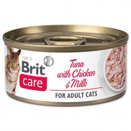 Brit Care Cat konzerva Tuna with Chicken and Milk 70 g