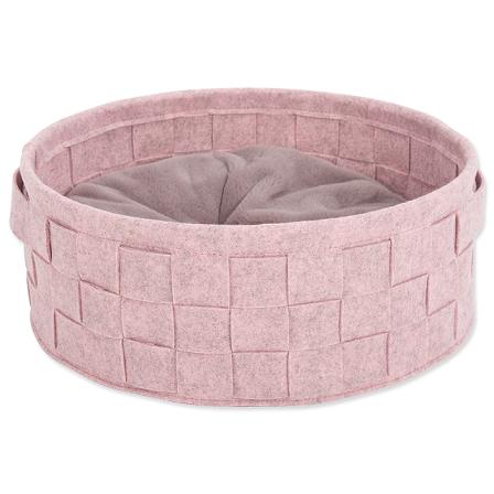 Scruffs Habitat Felt Bed peliešok 45 cm ružový