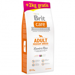 Brit Care Adult Medium Breed Lamb & Rice 12+2kg
