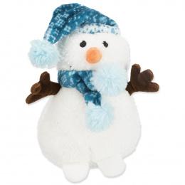 Hračka Xmas snehuliak s čapicou plyš 20 cm