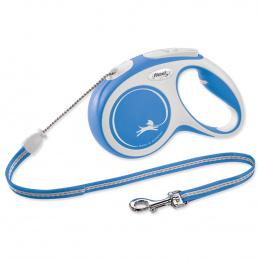 Flexi vôdzka New Comfort lanko M 5 m modrá